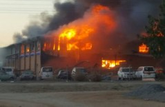 ZIMRA Warehouse Burns