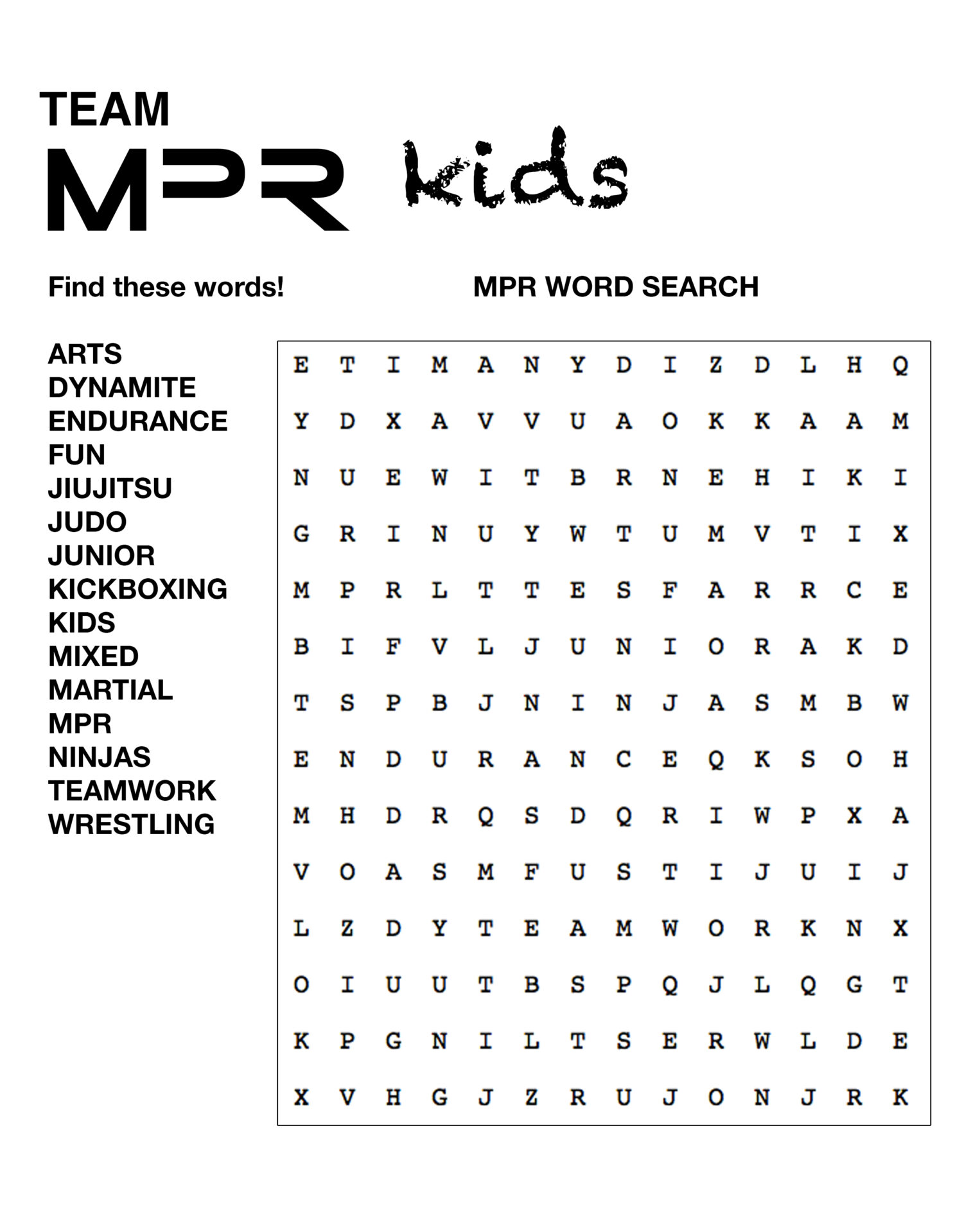 Anti Bullying Word Search Images