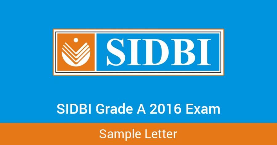 SIDBI-Grade-A-2016-Exam---Sample-Letter