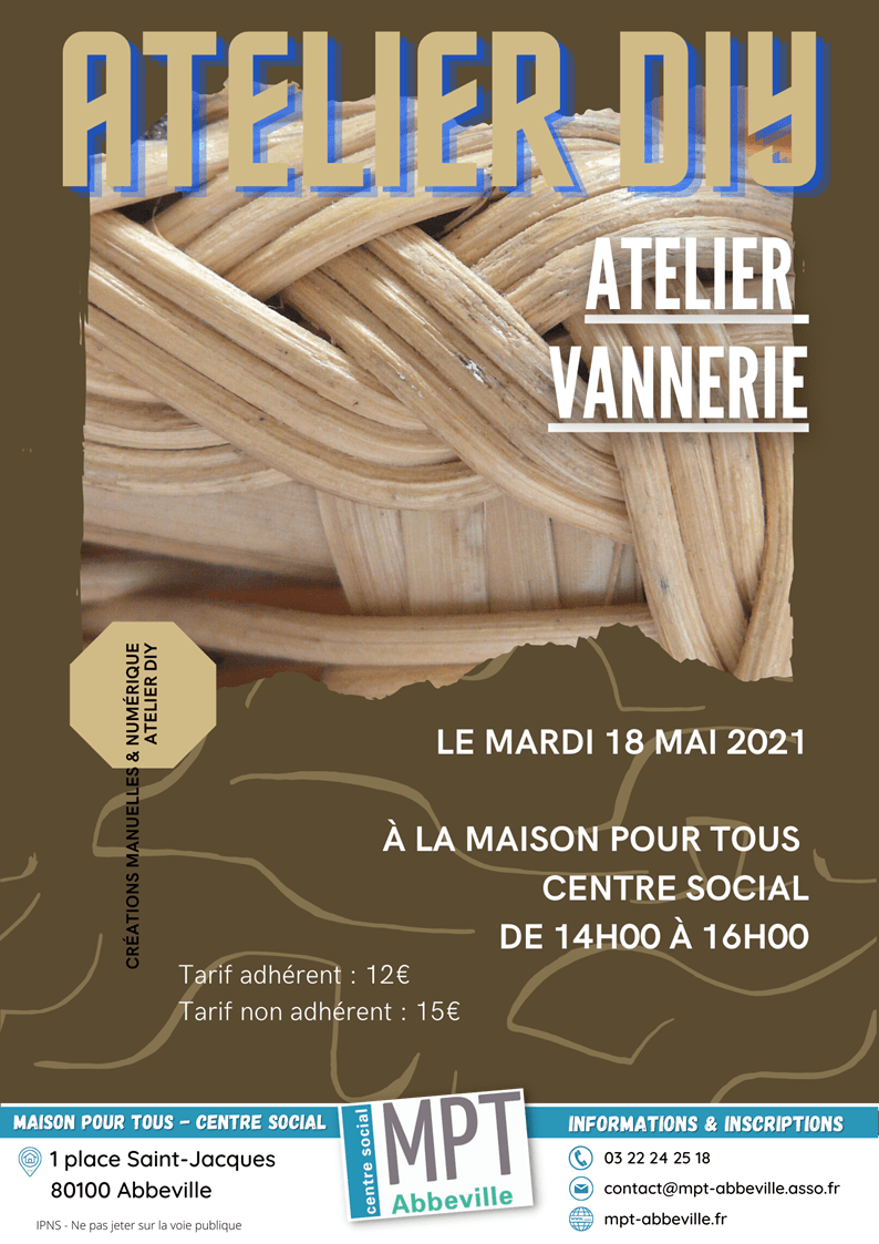 Atelier Do it yourself : vannerie