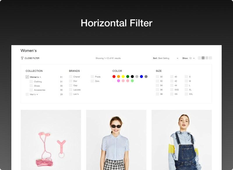 Horizontal filter