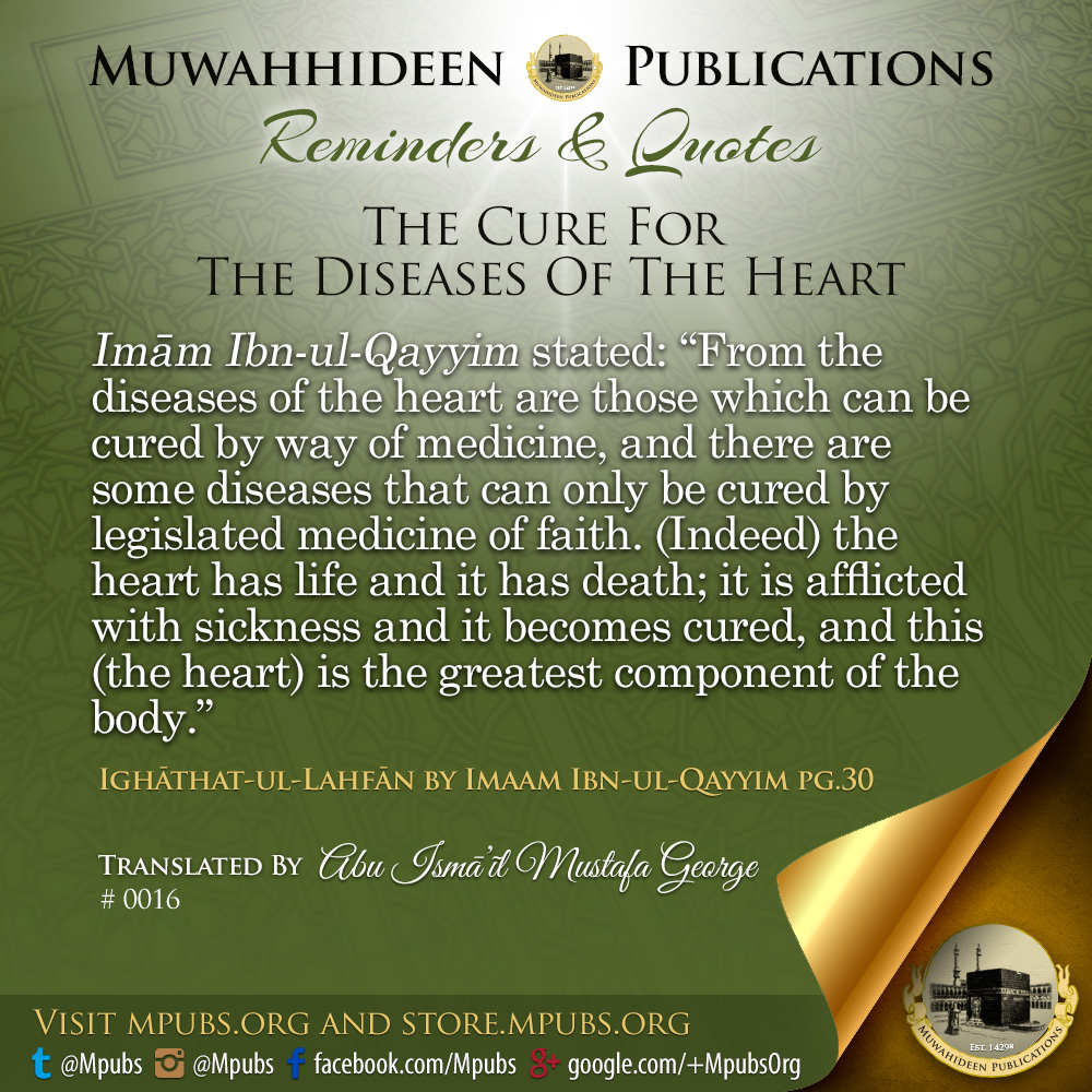 quote0016 the cure for the diseases of the heart