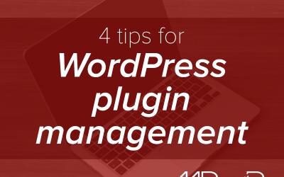 4 tips for WordPress plugin management