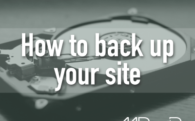 WordPress basics: How to back up your site