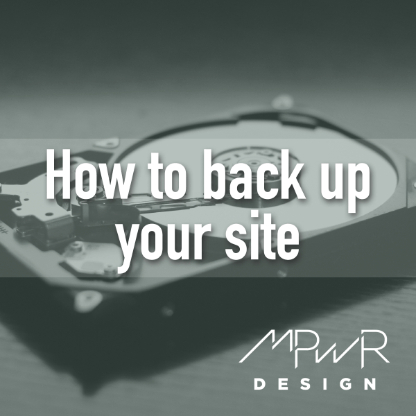 How to back up your WordPress website