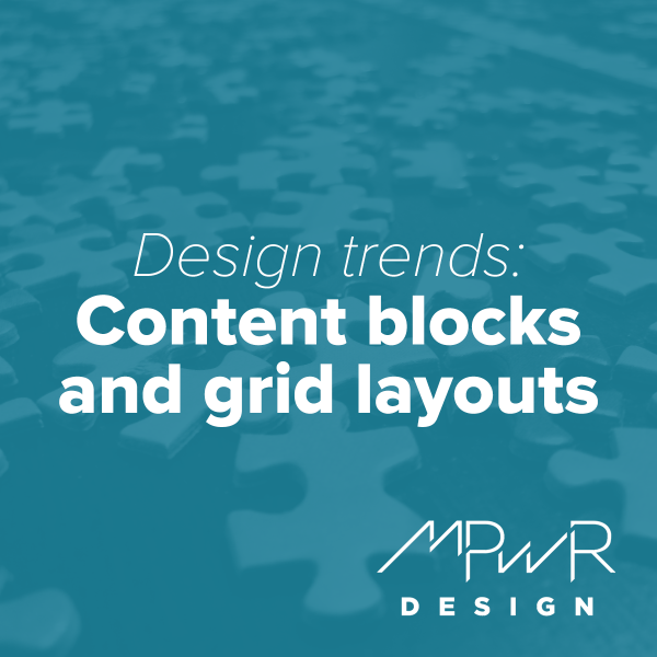 Design trends: Content blocks and grid layouts