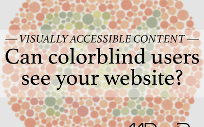 Visually accessible content: Can colorblind users see your site?