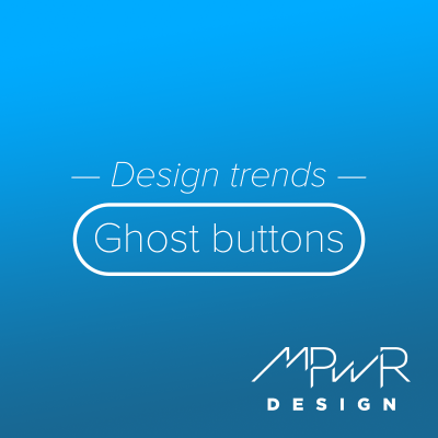 Design trends: Ghost buttons