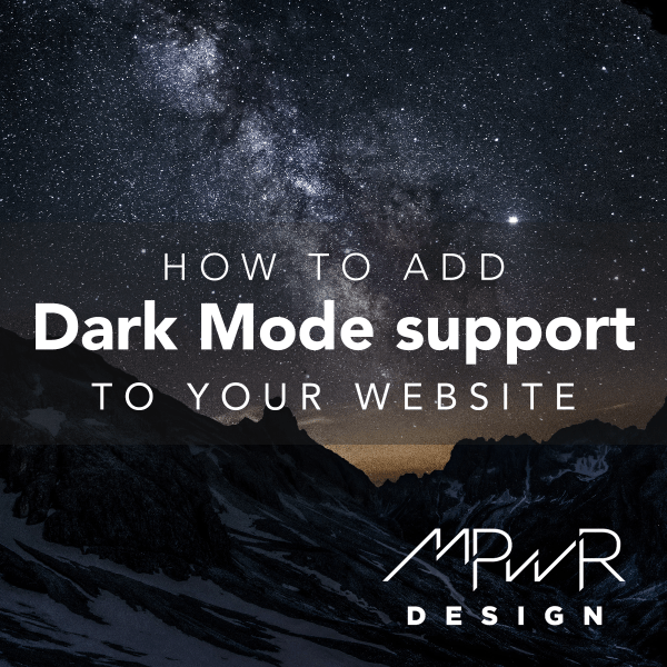 How to add dark mode support to your website