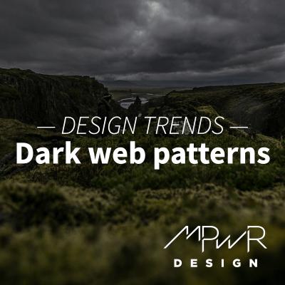 Website design trends: Dark web patterns