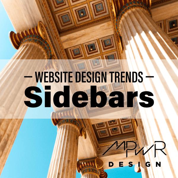 Website design trends: Sidebars