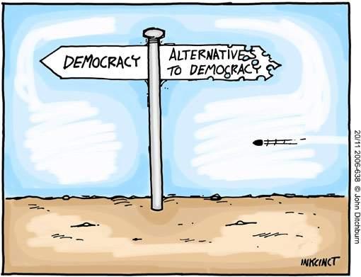 democracy-sign-post