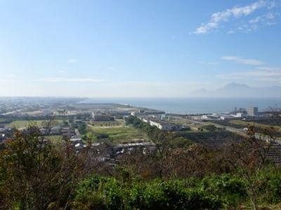 四山展望台からの眺望 荒尾干潟