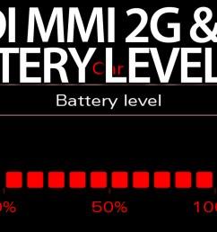 audi mmi battery level status 2g 3g activation [ 1280 x 720 Pixel ]