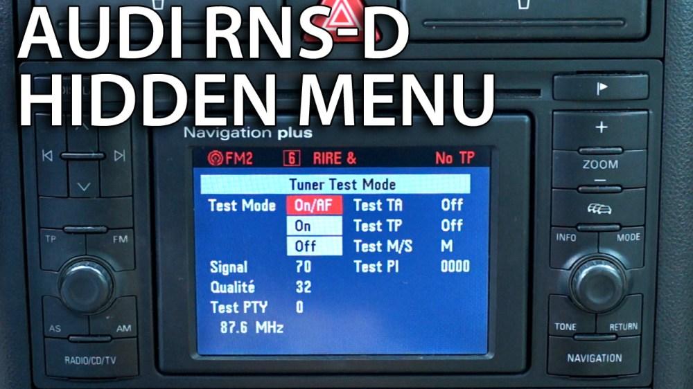medium resolution of audi rns d hidden menu