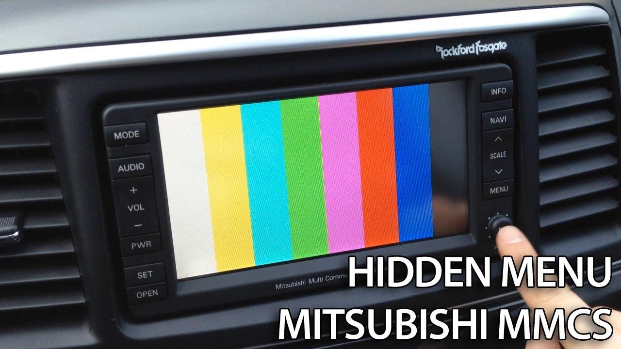 hight resolution of mitsubishi mmcs hidden menu