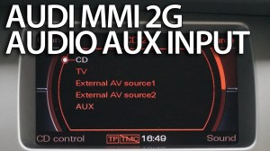 Audi MMI 2G aux audio source activation and wiring  mrfixinfo