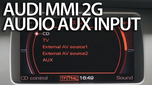 small resolution of audi mmi 2g aux in activation