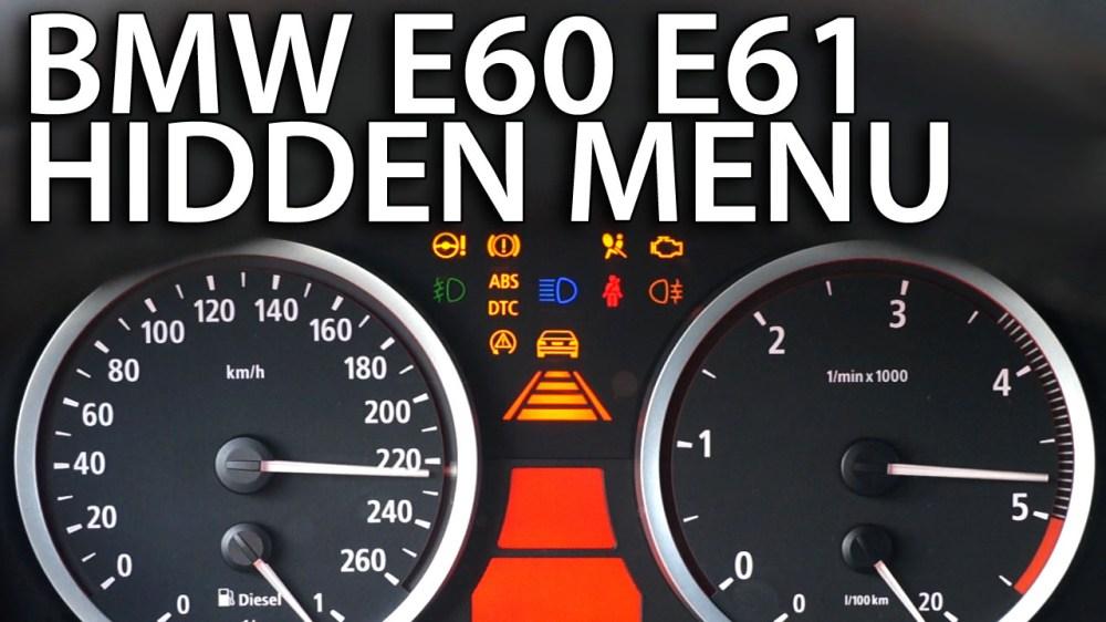 medium resolution of bmw e60 e61 hidden menu obc