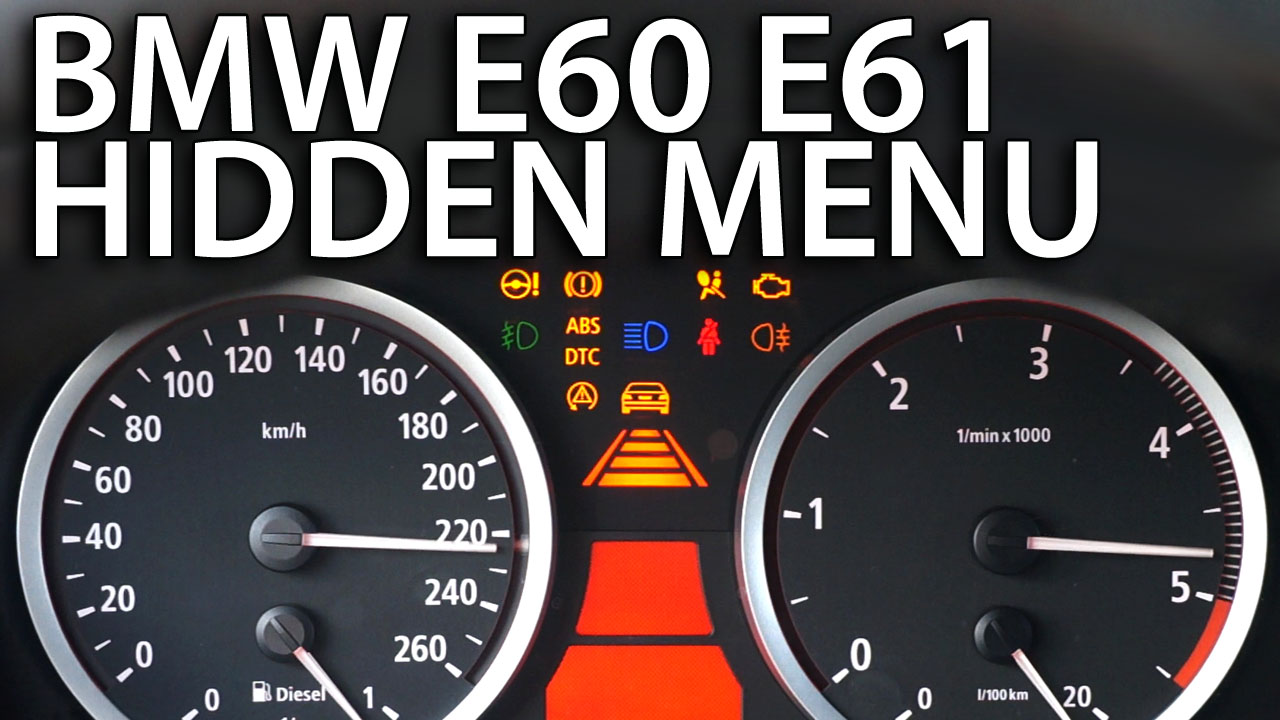 hight resolution of bmw e60 e61 hidden menu obc