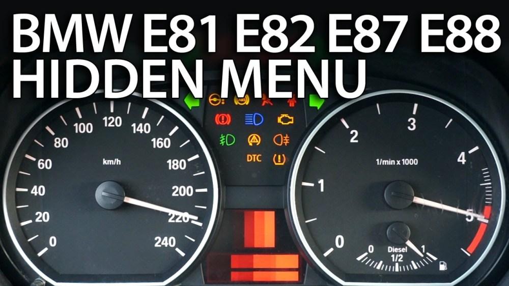 medium resolution of bmw 1 series hidden menu e81 e82 e87 e88