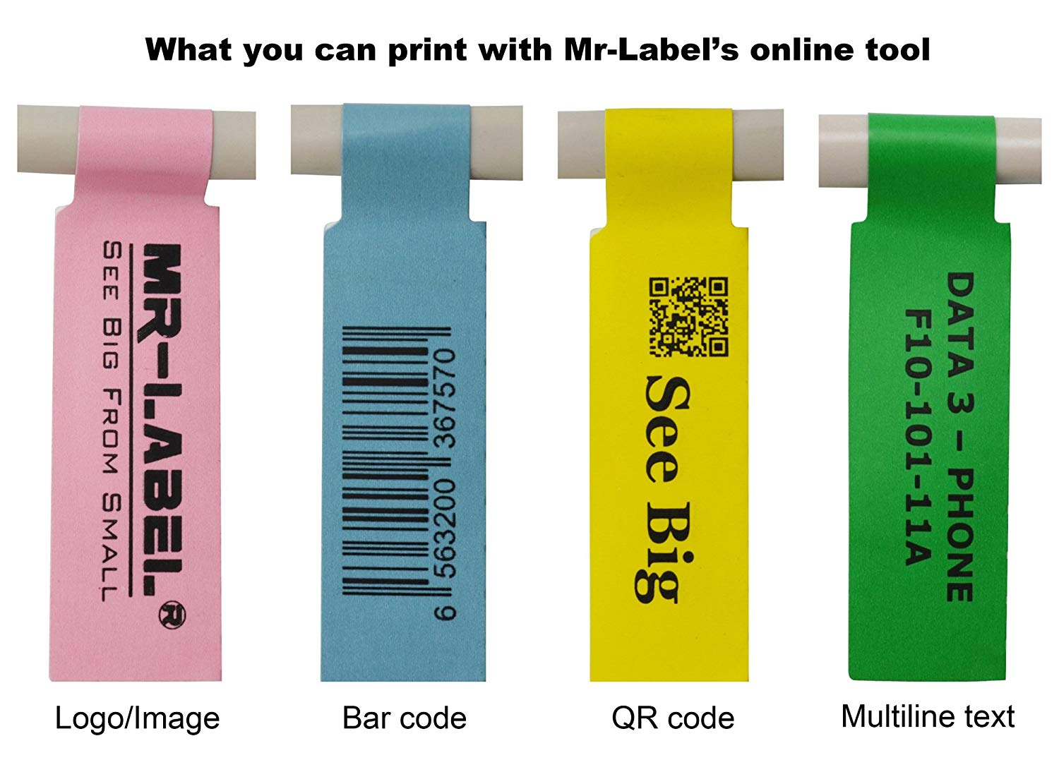 Mr Label Us Letter Sheet Self Adhesive Cable Label