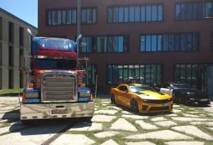Optimus Prime and Bumblebee in Munich