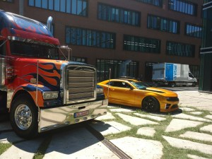 Optimus Prime and Bumblebee in Munich