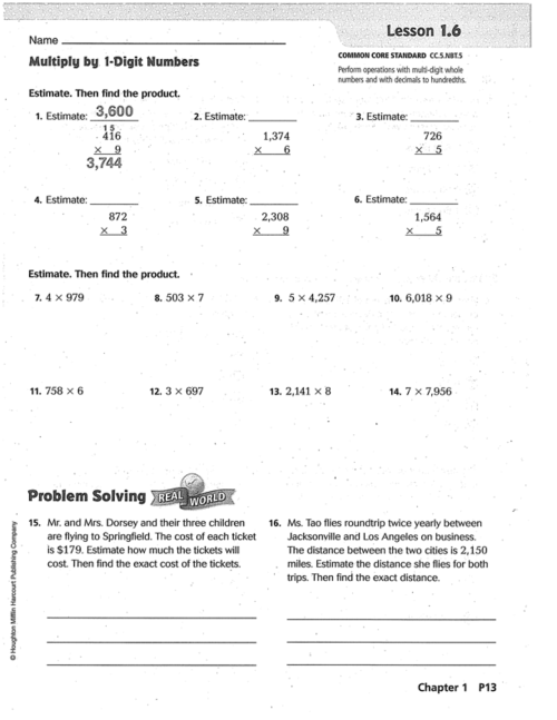 small resolution of Go Math Chapter 1 Practice Book   Mr. Monteleone's 5th Grade Class
