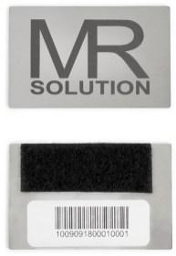 Edelstahlemblem mit Registrationsnummer