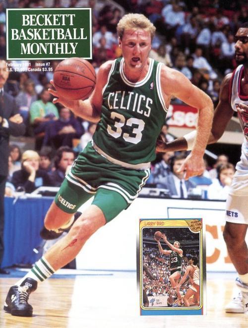 #07 February 1991-Larry Bird Basketball Beckett