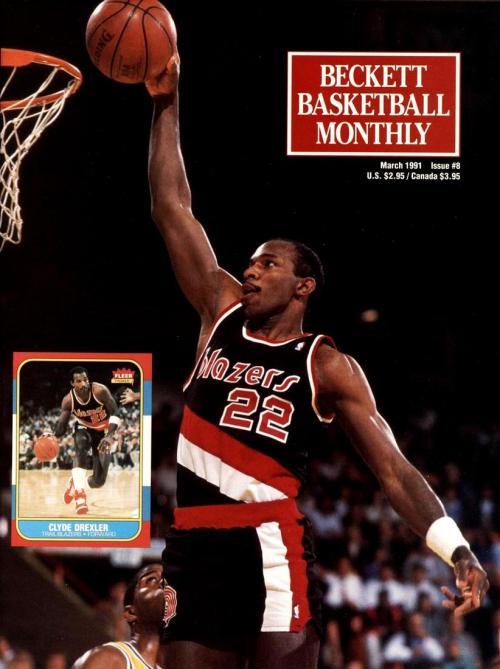 #08 March 1991-Clyde Drexler Basketball Beckett