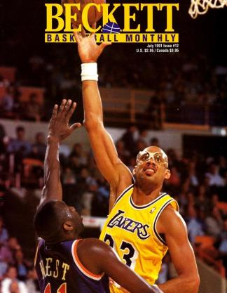 #12 July 1991-Kareem Abdul-Jabber Basketball Beckett