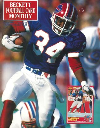 #12 March 1991-Thurman Thomas Football Becketts