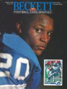 #17 August 1991-Barry Sanders Football Beckett