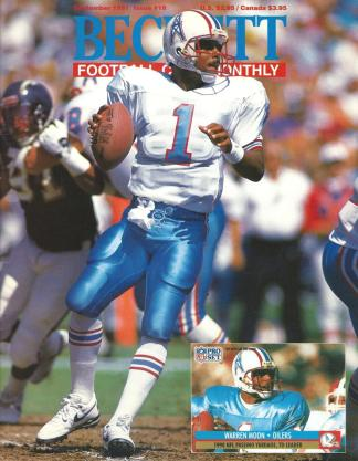 #18 September 1991-Warren Moon Football Becketts