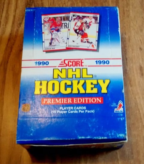 1990-91-Score U.S. Hockey Wax Box