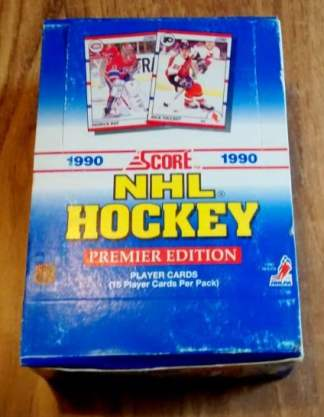 1990-91 Score U.S. Hockey Wax Box