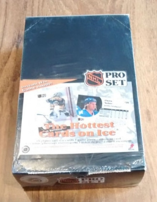 1991-92 Pro Set English Series Hockey Box