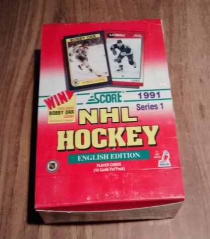 1991-92 Score English Series 1 NHL Hockey Box