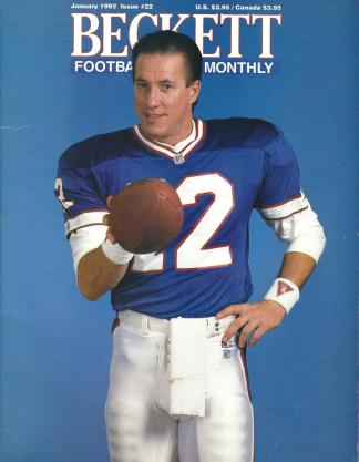 #22 January 1992-Jim Kelly Football Becketts