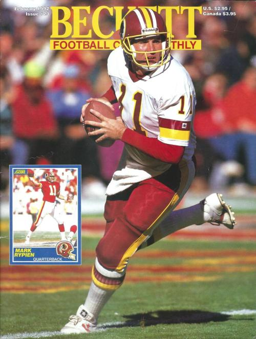 #23 February 1992-Mark Rypien Football Beckett