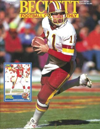 #23 February 1992-Mark Rypien Football Becketts