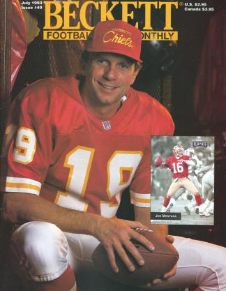 #40 July 1993-Joe Montana Football Becketts