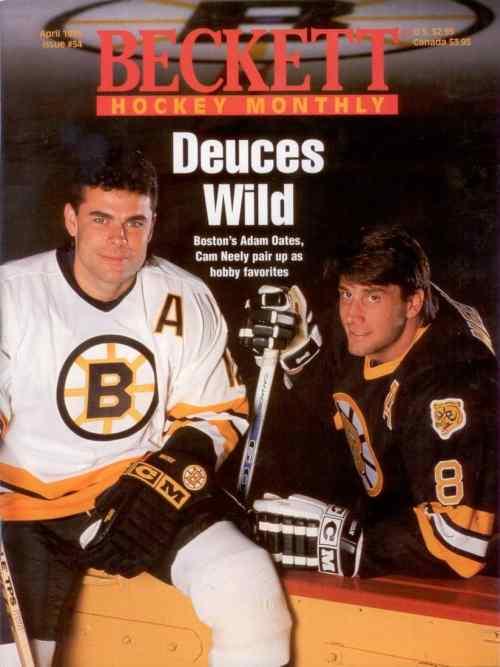 #54 April 1995-Adam Oats & Cam Neely Hockey Beckett