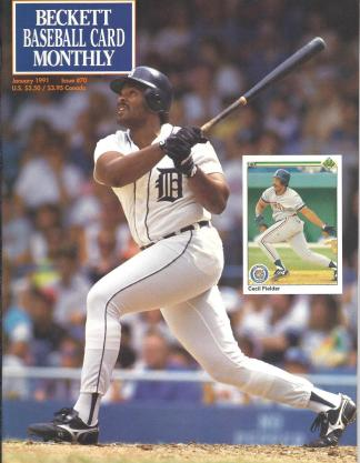 #70 January 1991-Cecil Fielder Baseball Becketts