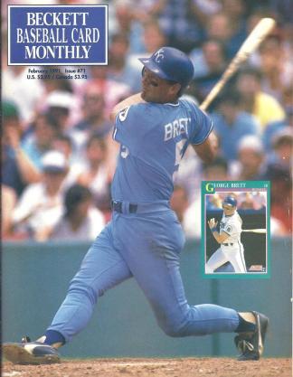 #71 February 1991-George Brett Baseball Becketts