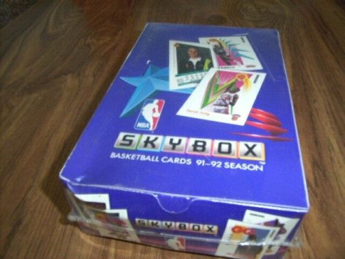 1991-92 Skybox Basketball Trading Cards Box