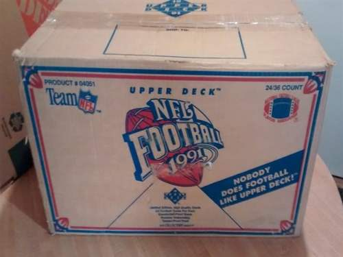 1991 Upper Deck NFL Football Factory Sealed Wax Box Case