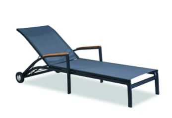 chaise lounge sling style chair elite available in navy and white mr vallarta s